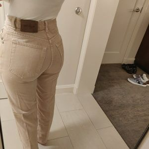 VTG High Waisted Calvin Klein Cream Jeans